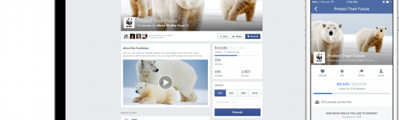 How to manage and add Donate button for Facebook posts?