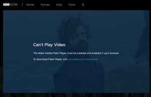 Hbo with adobe flash player