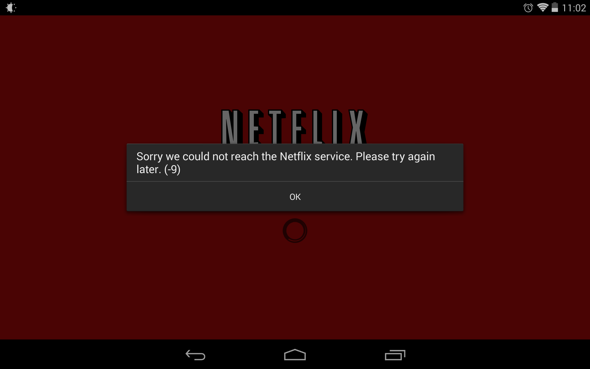 Netflix common error
